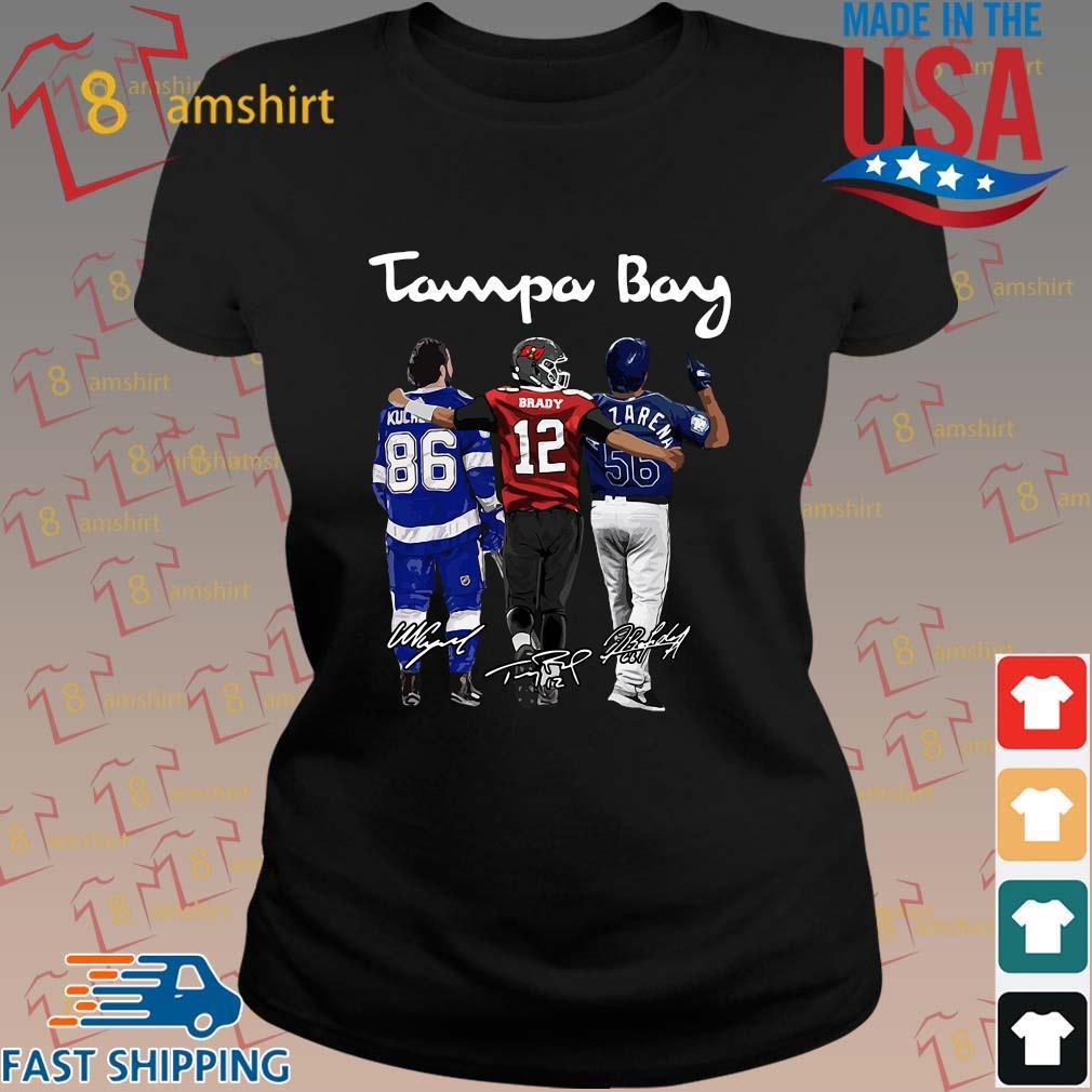Tampa Bay Nikita Kucherov Tom Brady Mvp signatures shirts ladies den